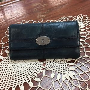 Fossil Indigo Blue Leather Wallet